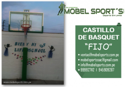 TABLERO DE BASQUET FIJO-MOBEL SPORT´S