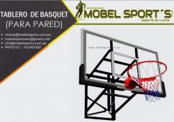 TABLERO DE BASQUET PARA PARED-MOBEL SPORT´S