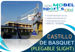 TABLEROS DE BASKET PLEGABLE TRASNPORTABLE-MOBEL SPORTS