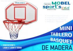 TABLEROS DE BASQUET DE MADERA -MOBEL SPORTS