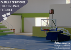 CANASTA DE BALONCESTO PROFESIONAL PLEGABLE -MOBEL SPORT`S