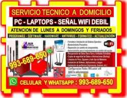 SOPORTE TECNICO WIFI REPETIDORES WIFI REPARACIONES PC LAPTOP