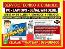 TECNICO WIFI REPETIDORES WIFI REPARACIONES DE PC LAPTOP CABLEADOS