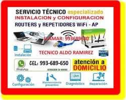 SOPORTE TECNICO WIFI REPETIDORES REPARACION PC LAPTOP CABLEADOS