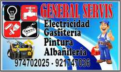 electricista, gasfitero