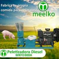 Peletizadora 300 mm 55 hp DIESEL para concentrados balanceados 600-750 kg/h - MKFD300A