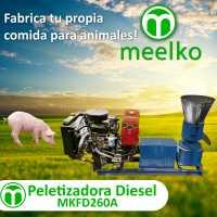 Peletizadora 200 mm 15 hp DIESEL para concentrados balanceados 200-300 kg/h - MKFD200A
