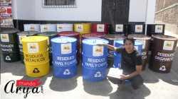 Cilindros de Metal para recoleccion de residuos